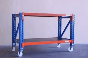 ML trolley1800 racking emerald