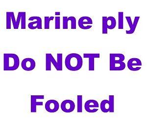 Marine ply fool