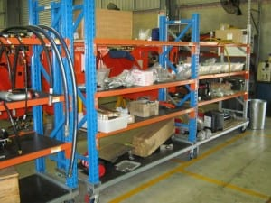 MaxiLoad Trolley racking and shelving system