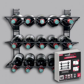 GSET03 Walltech_Black_Wine-Rack-Starter-Kit_WALGSET03-full-295x295